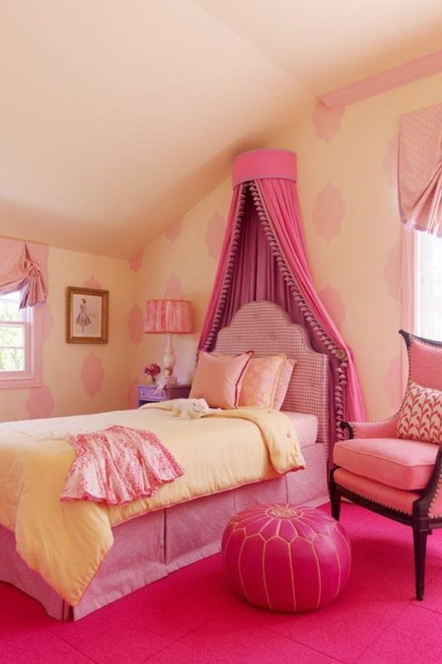 Best Pink Bed Crown Shabby Chic Romantic Chic Cottage With Pictures