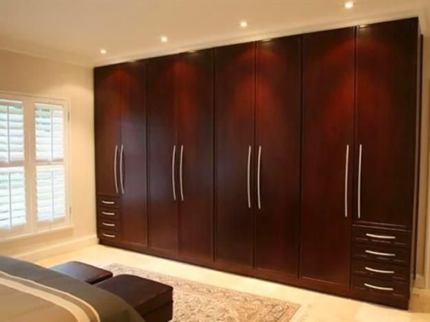 Best Simple Traditional Wardrobe Brown Wooden Design Ideas With Pictures