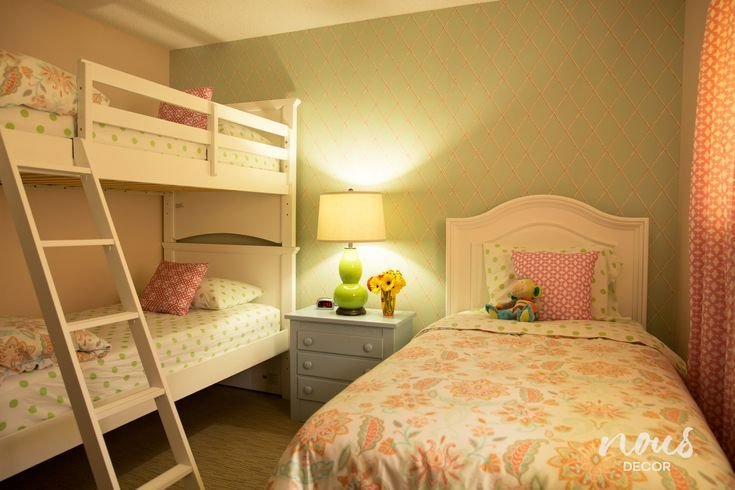 Best Before After A Bedroom For Three Girls Inspiring With Pictures