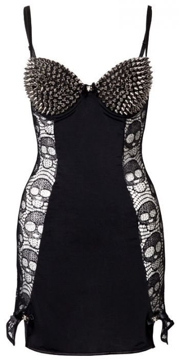 Best Bedroom Stories Skull Spike Gothic Slip Dress Lna5138 With Pictures