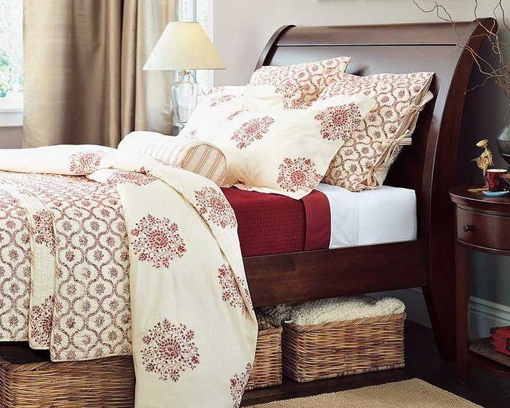 Best Red And Cream Duvet Quilt Shams Bedroom Parvati With Pictures