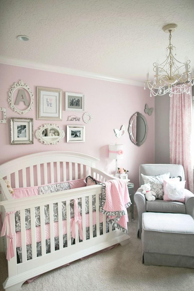 Best Soft And Elegant Gray And Pink Nursery Baby Room Baby With Pictures