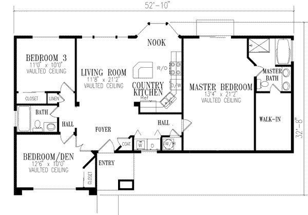 Best 1296 Square Feet 3 Bedrooms 2 Batrooms On 1 Levels Floor Plan Number 1 House Ideas House With Pictures