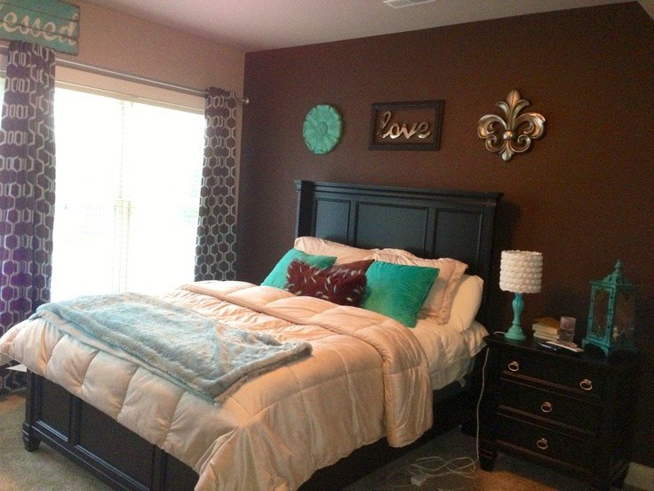 Best 25 Teal Brown Bedrooms Ideas On Pinterest Living With Pictures