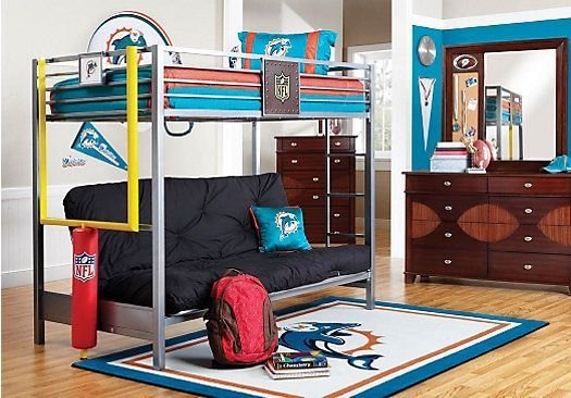 Best Shop For A Nfl Redzone 6 Pc Twin Loft Bedroom At Rooms To With Pictures