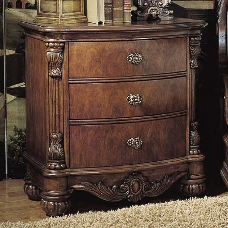 Best Pulaski Edwardian 3 Drawer Nightstand 242140 Home With Pictures