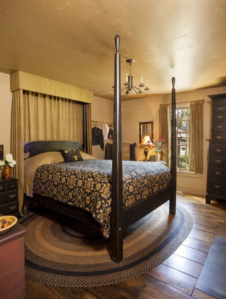 Best 291 Best Primitive And Colonial Bedrooms Images On With Pictures