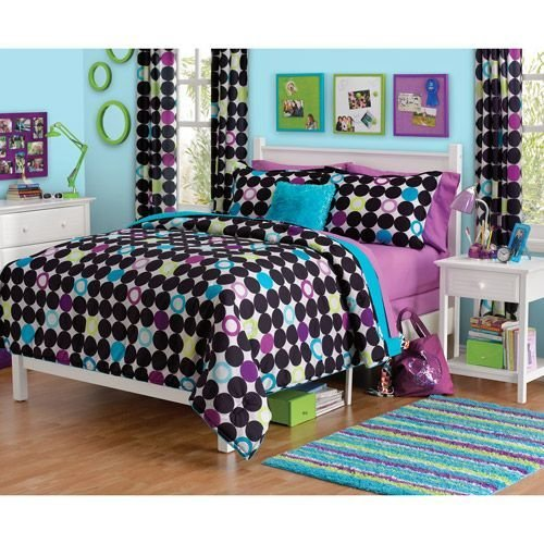 Best For M Your Zone Color Block Dot Comforter Set Walmart With Pictures
