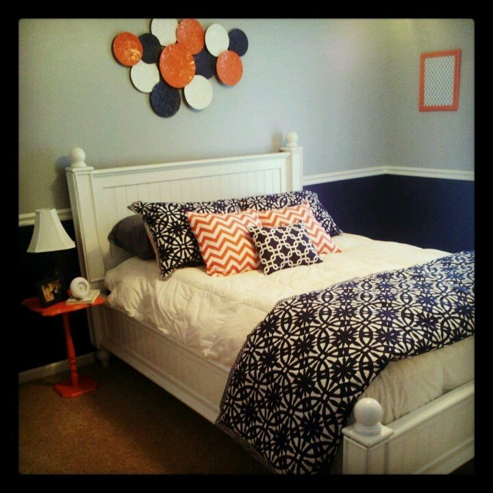 Best 48 Best Coral And Navy Bedroom Colors Images On With Pictures