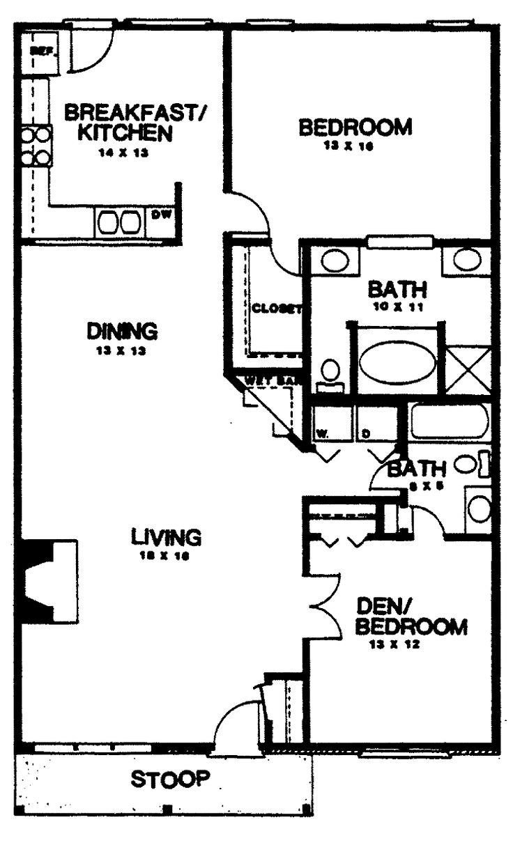 Best 25 2 Bedroom House Plans Ideas On Pinterest 2 With Pictures
