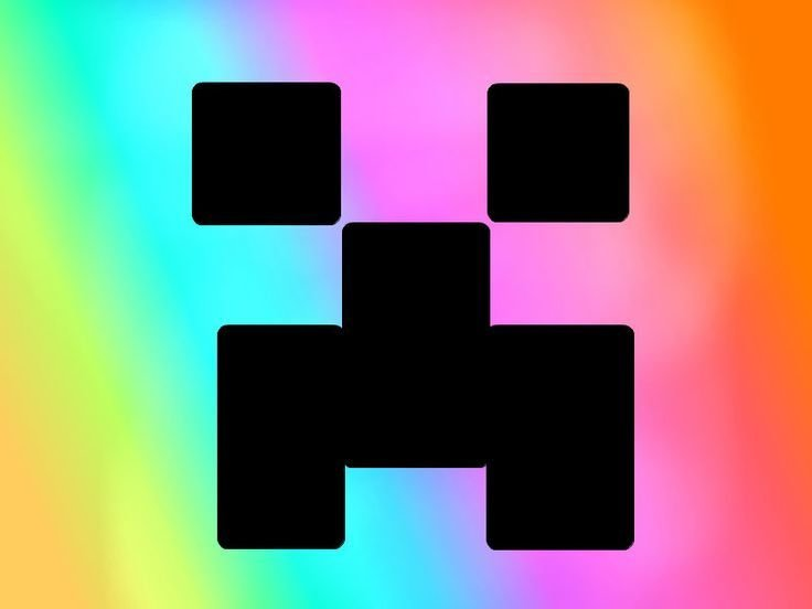 Best Minecraft Rainbow Skinned Creeper By Audsmarmarvee With Pictures