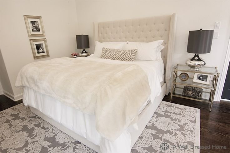 Best Stunning Bedroom With Beige Tufted Headboard Accented With With Pictures