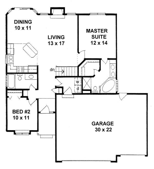 Best 3 First Floor Plan Of Traditional House Plan 62511 Home With Pictures