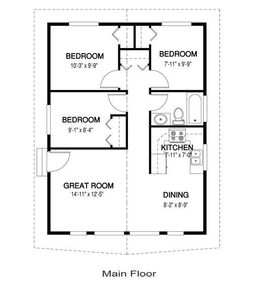 Best Yes You Can Have A 3 Bedroom Tiny House 768 Sq Ft One For With Pictures