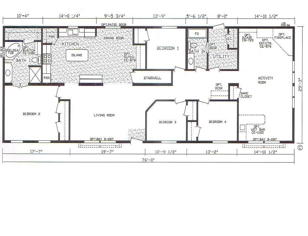 Best Yes Wet Bar Floor Plan For 4 Bedroom 3 Bathroom Mobile With Pictures