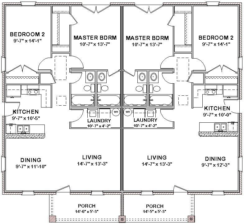 Best 2 Bedroom 2 Bath Cottage Plans Duplex House Plans Full Floor Plan 2 Bed 2 Bath Ebay Pool With Pictures