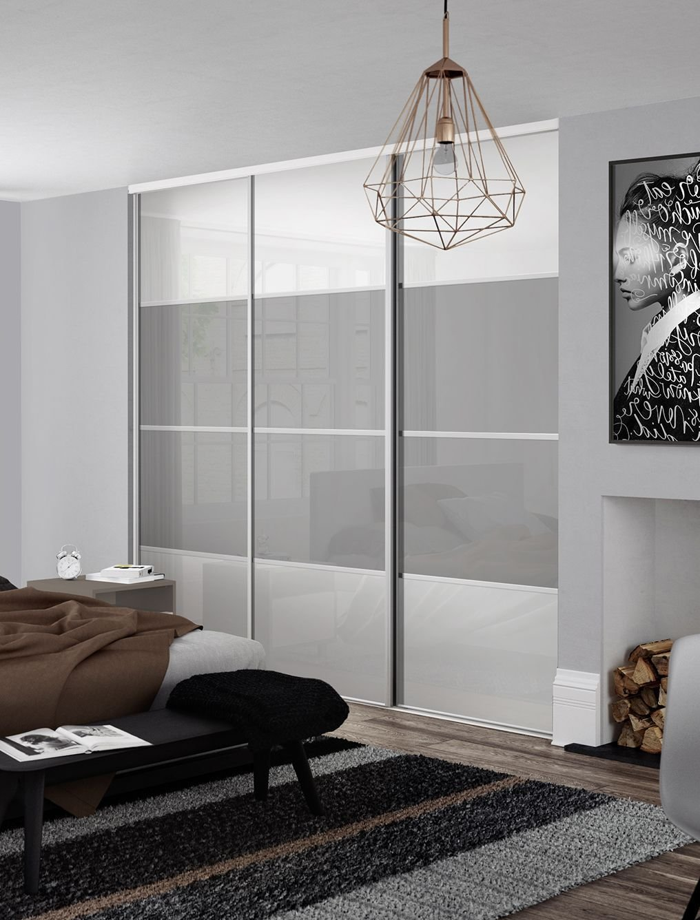 Best Classic 4 Panel Sliding Wardrobe Doors In Pure White And With Pictures