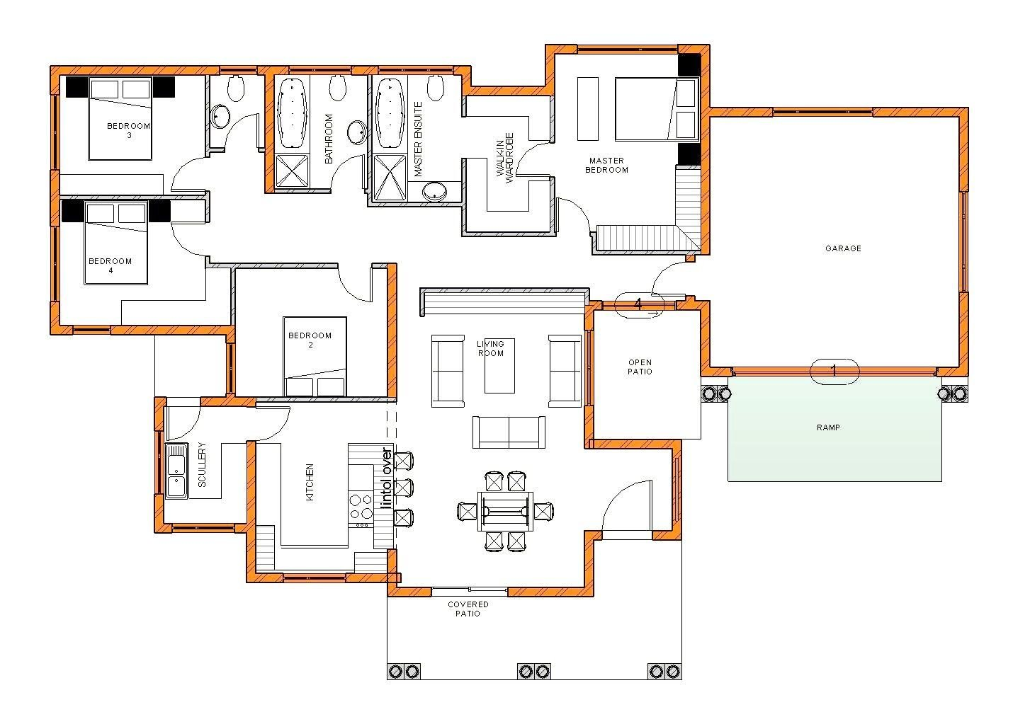 Best Modern 4 Bedroom House Plans South Africa Stunning Tuscan With Pictures