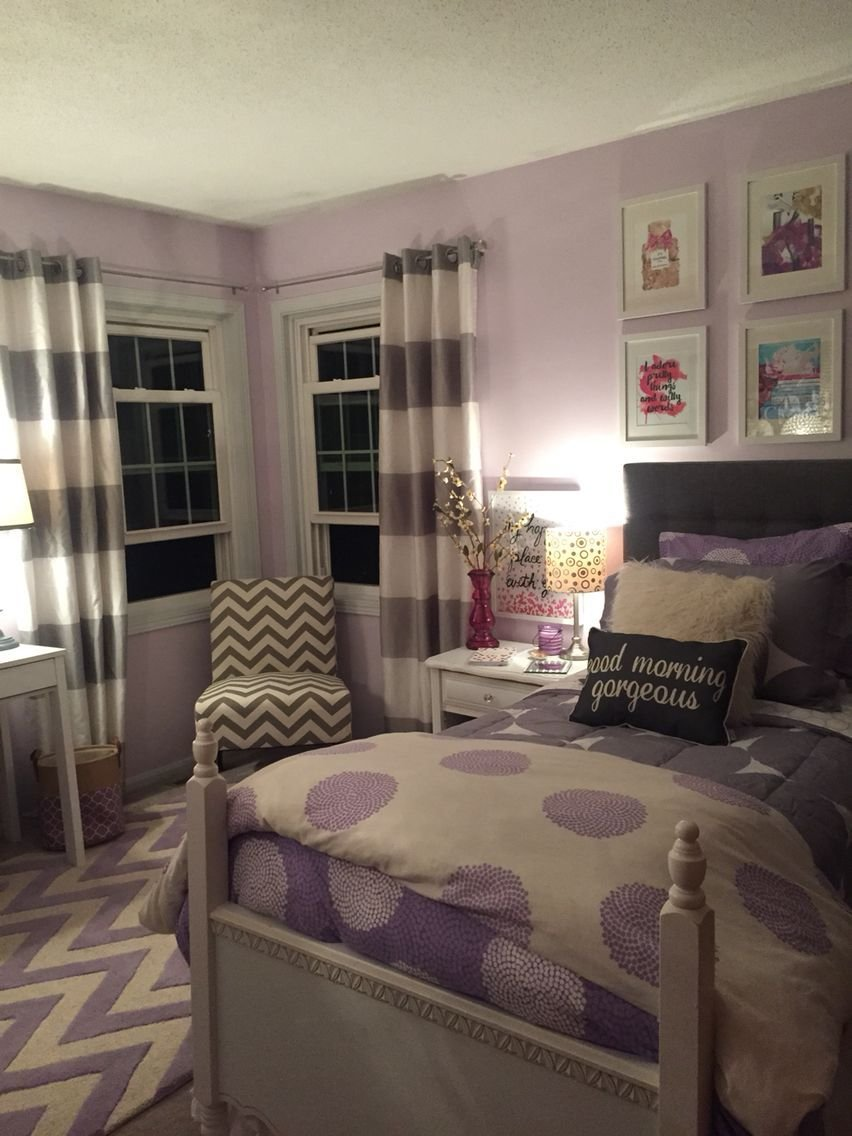 Best Lavender And Grey T**N Bedroom For The Home Girls With Pictures