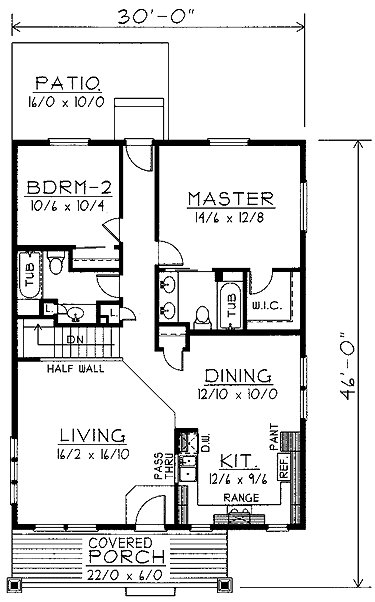 Best Home Plans Homepw74380 1 200 Square Feet 2 Bedroom 2 With Pictures