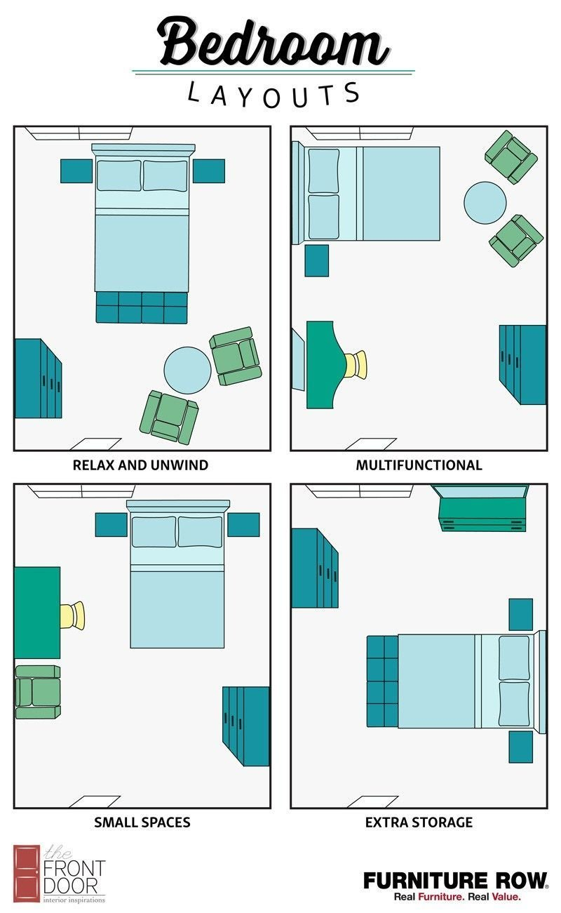 Best Bedroom Layout Guide The Front Door By Furniture Row With Pictures