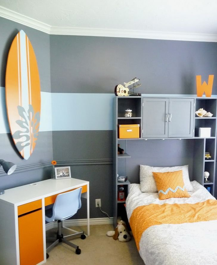 Best Paint Kids Bedroom Ideas Blue Grey Small Kids Bedroom With Pictures