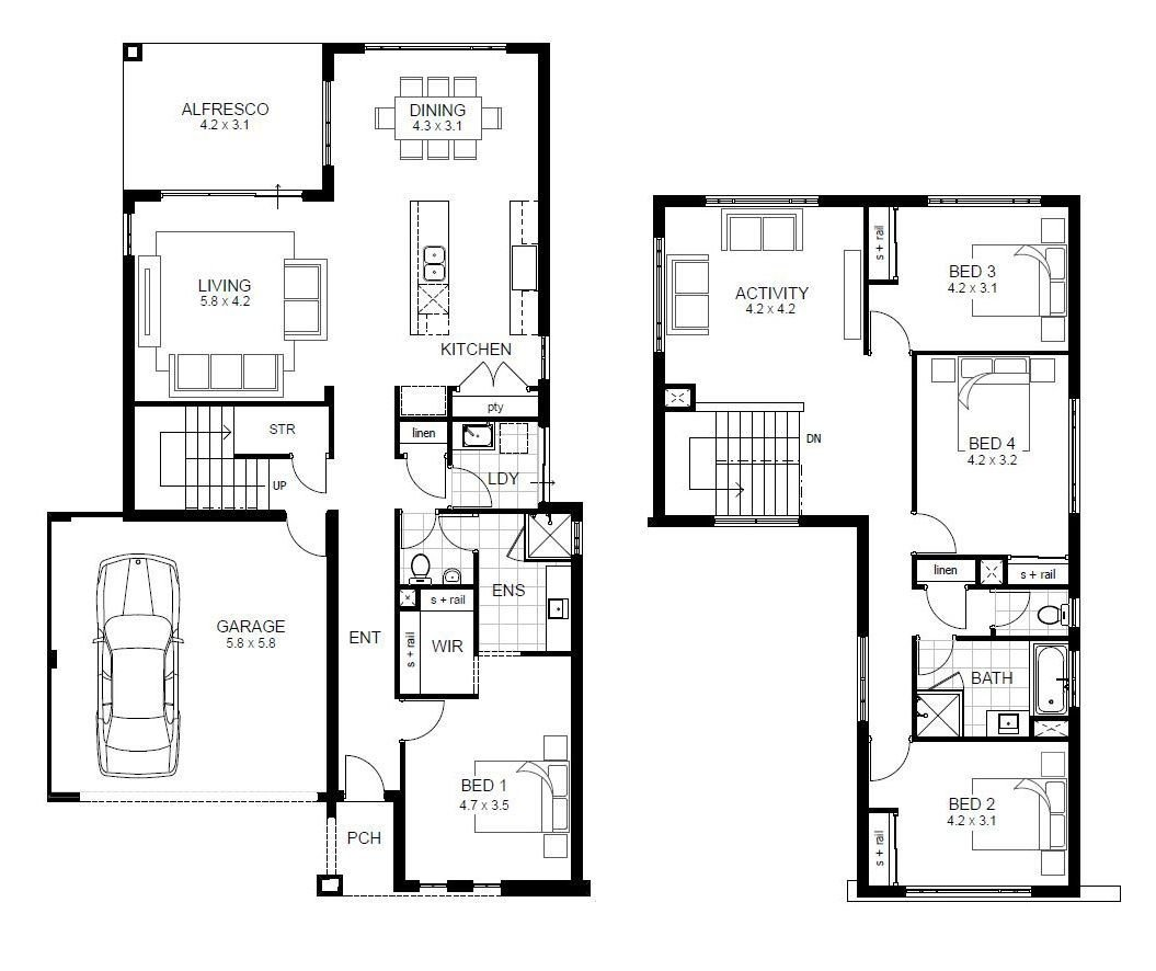 Best Floor Plans For A Four Bedroom House Bedroom Decorating With Pictures