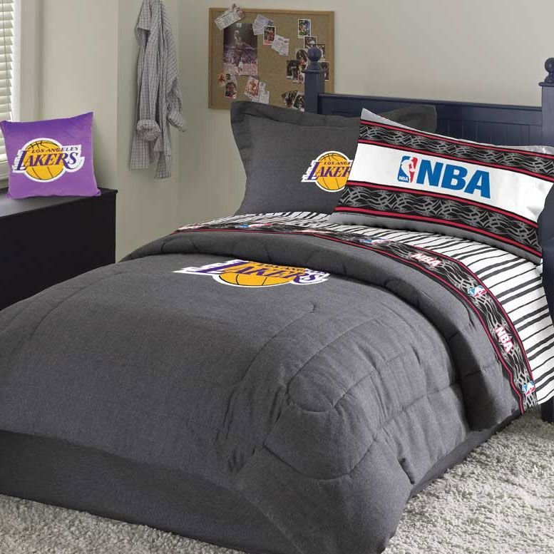 Best Lakers Bed Set Under In Stock Ready To Ship Gifts » Nba With Pictures