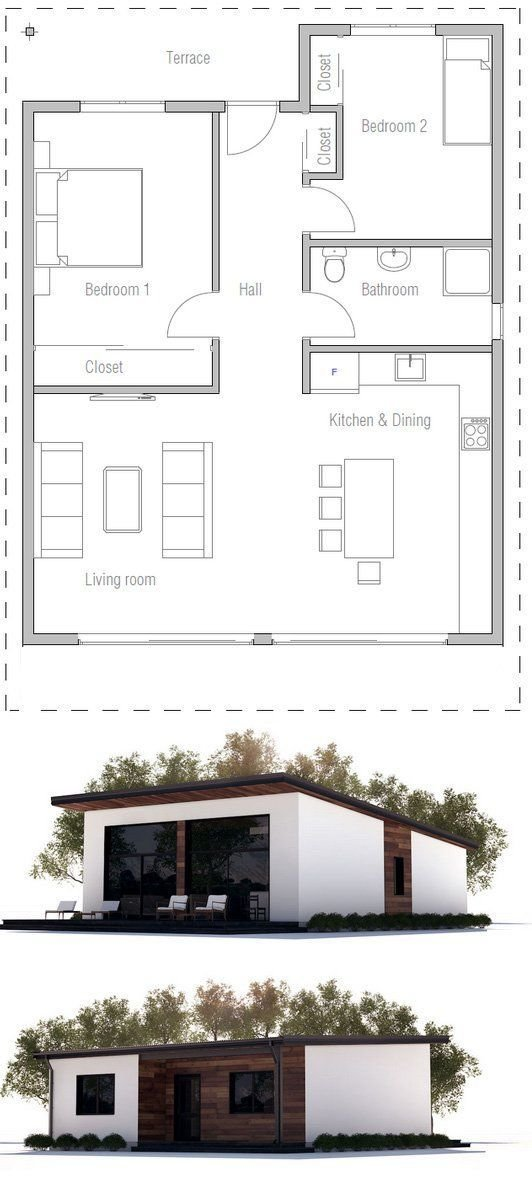 Best Affordable Two Bedroom House Plan House Non With Pictures