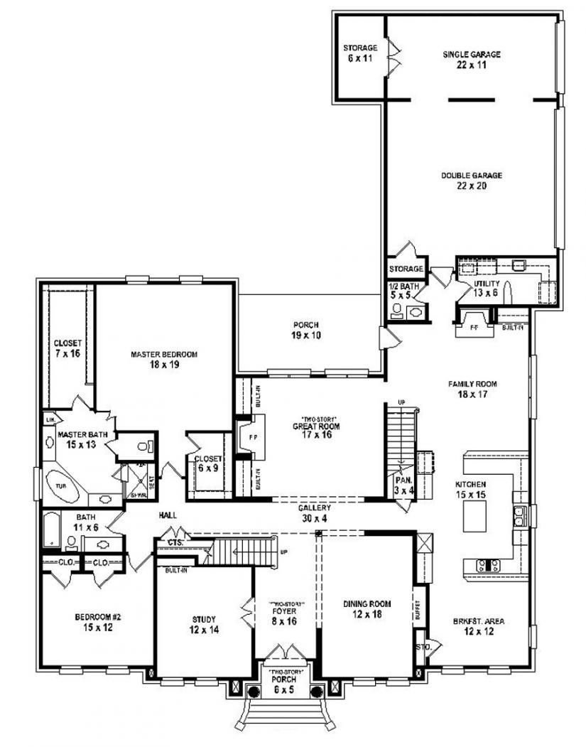 Best 653916 Two Story 5 Bedroom 4 5 Bath Traditional Style With Pictures
