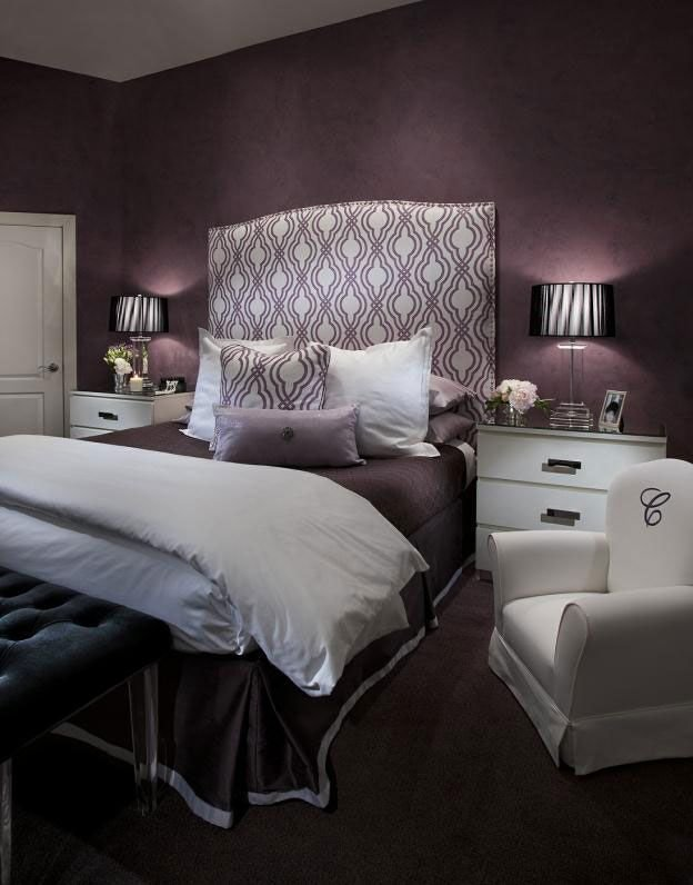 Best Featured Dark Purple Bedroom Decorating Ideas With White With Pictures