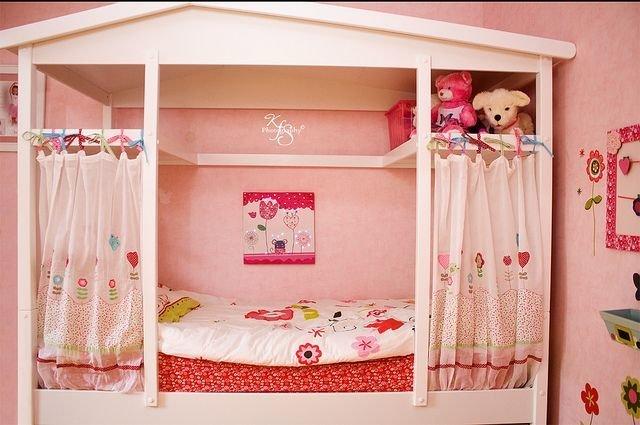 Best Her New Cabane Bed Kids Rooms Ideas Girls Bedroom With Pictures