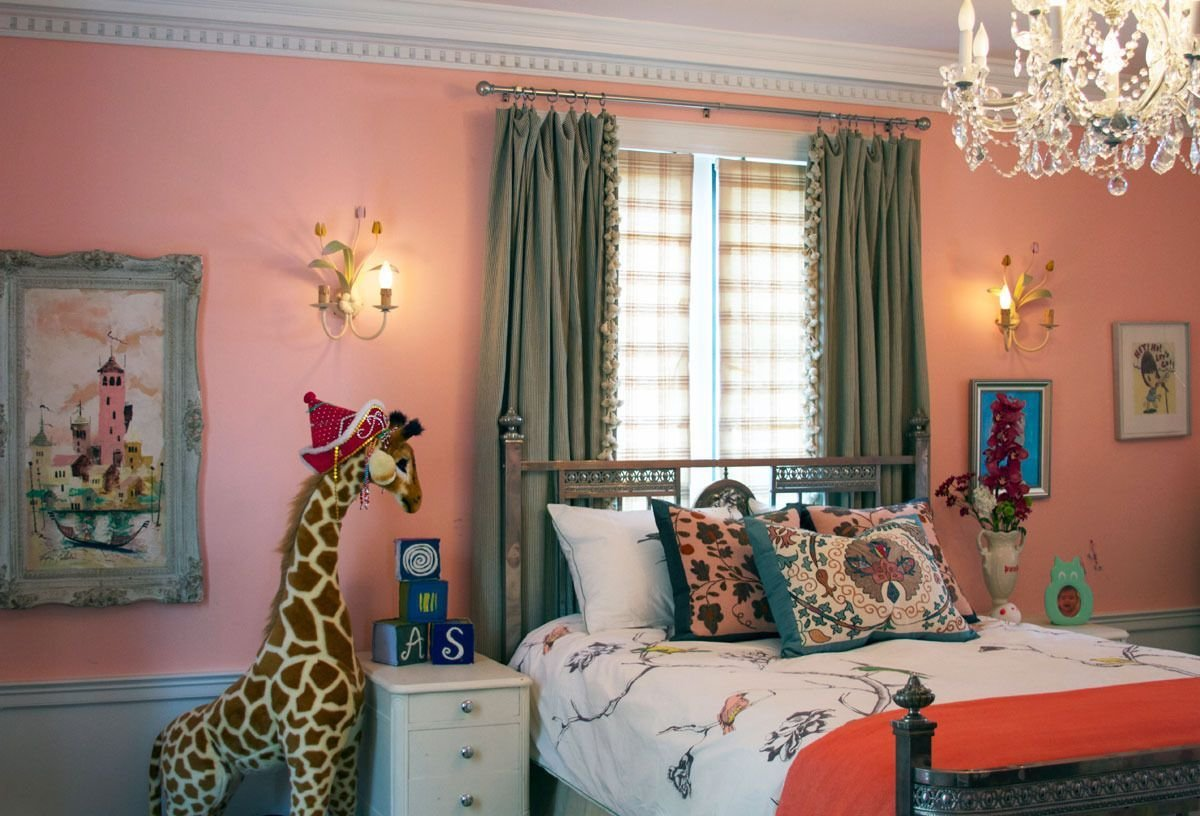 Best Sophisticated Pink Girl S Bedroom With Chandelier Pink With Pictures