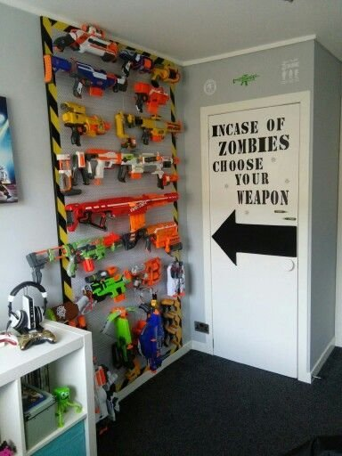 Best Nerf Storage That Looks Cool Kids Room Schlafzimmer With Pictures