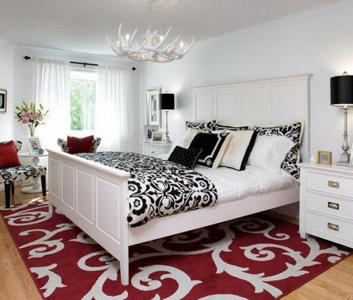 Best 48 Samples For Black White And Red Bedroom Decorating With Pictures