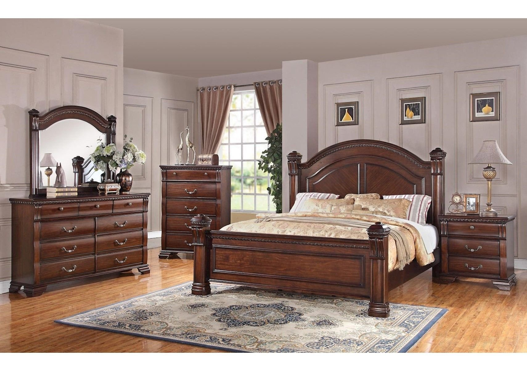 Best Lacks Isabella 4 Pc Queen Bedroom Set Traditional With Pictures