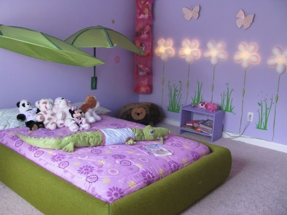 Best Our 4 Year Old Girls Room She Loves Purple We Incorporated A Lot Of The Outdoors As Well As A With Pictures
