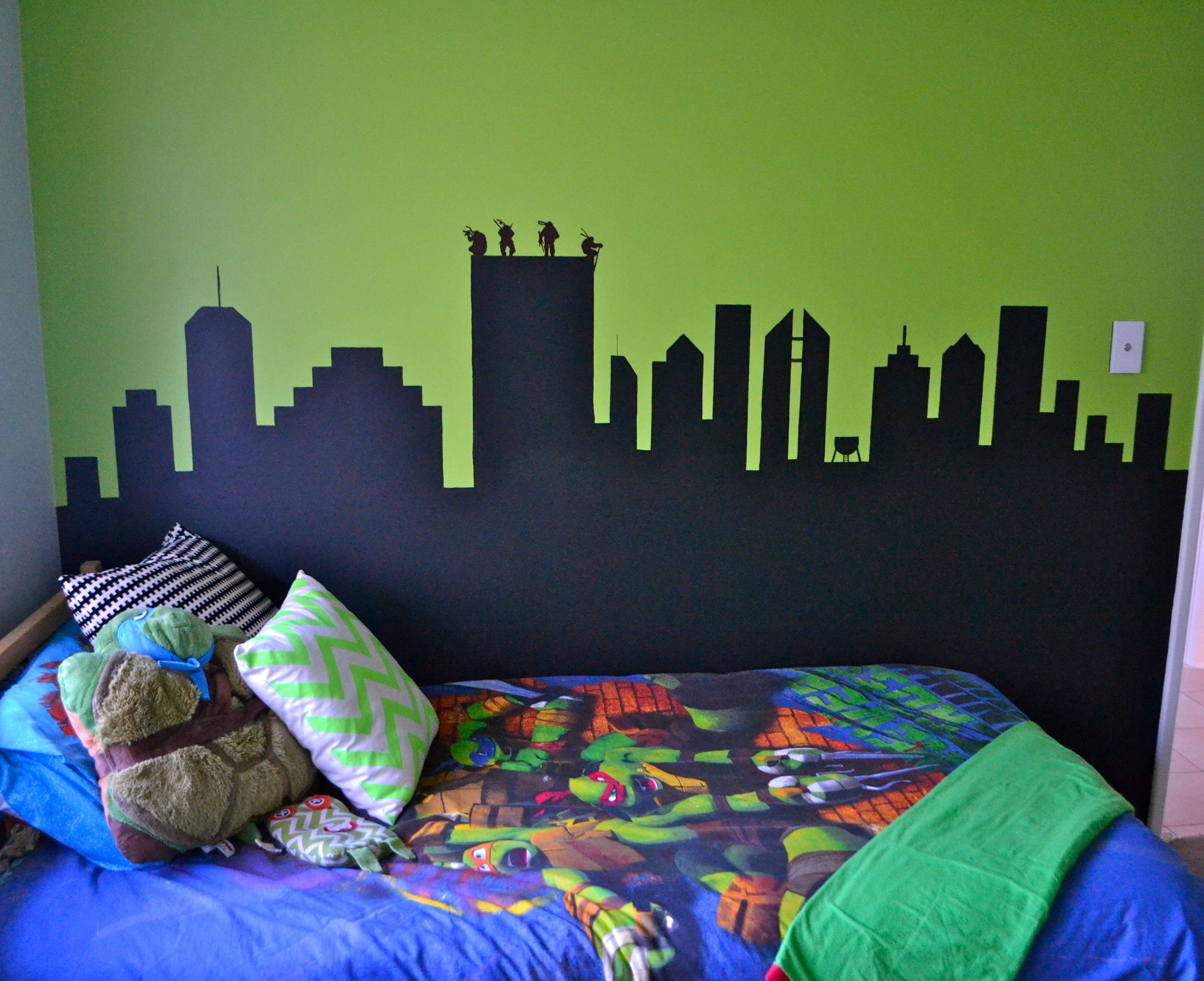 Best Tmnt And Beds On Pinterest Teenage Mutant Ninja Turtle Wall Mural At Www Thebeachbomb Com With Pictures