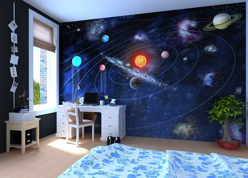 Best Solar System Wall Mural Wallpaper Photowall Home With Pictures