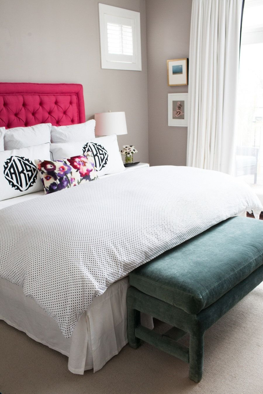 Best Alexandra Kaehlers Pink Black Bedroom In 2019 Master With Pictures