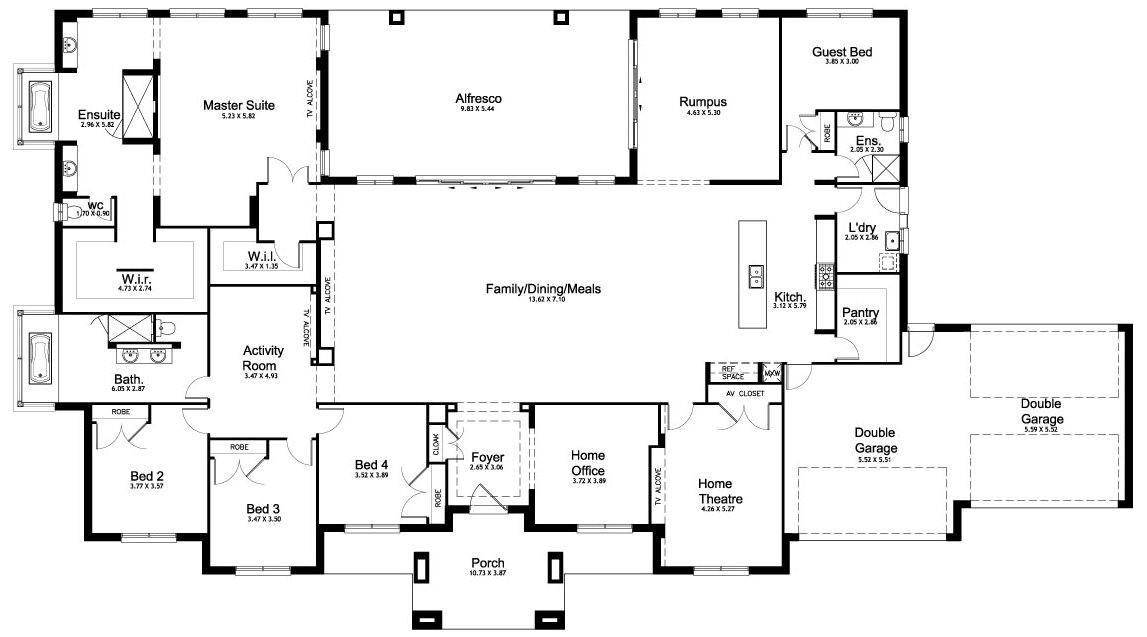 Best Floor Plan Friday 5 Bedroom Acreage Home Floor Plains With Pictures