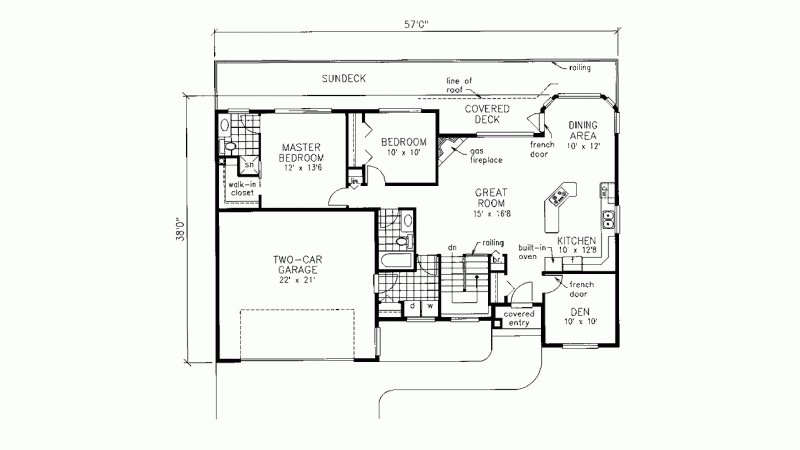 Best House Plan Ranch 2 Bedroom 2 Bath With Main Floor With Pictures
