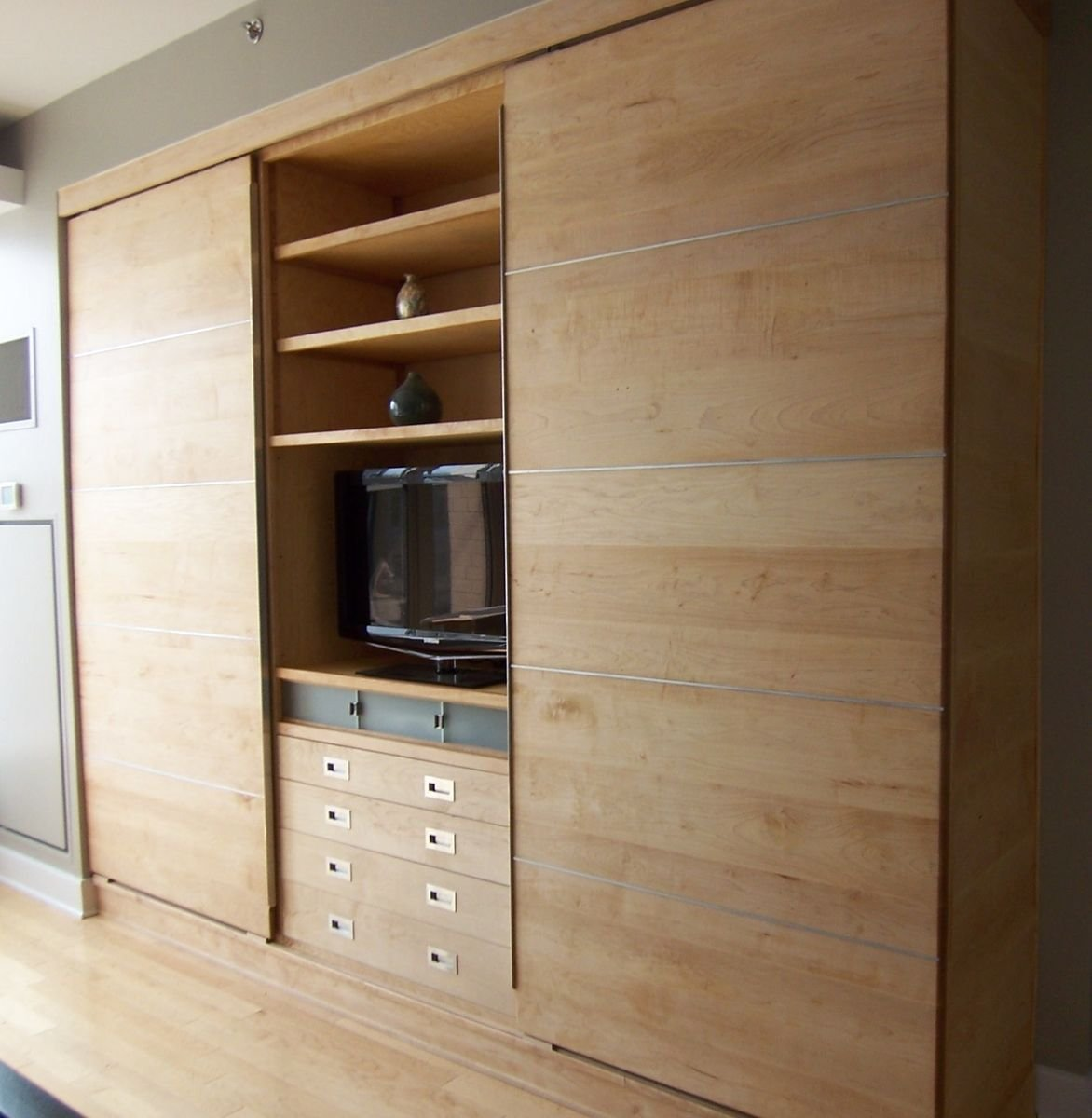 Best Modern Wall Unit Of Maple Products I Love In 2019 Bedroom Wall Units Wall Storage Cabinets With Pictures