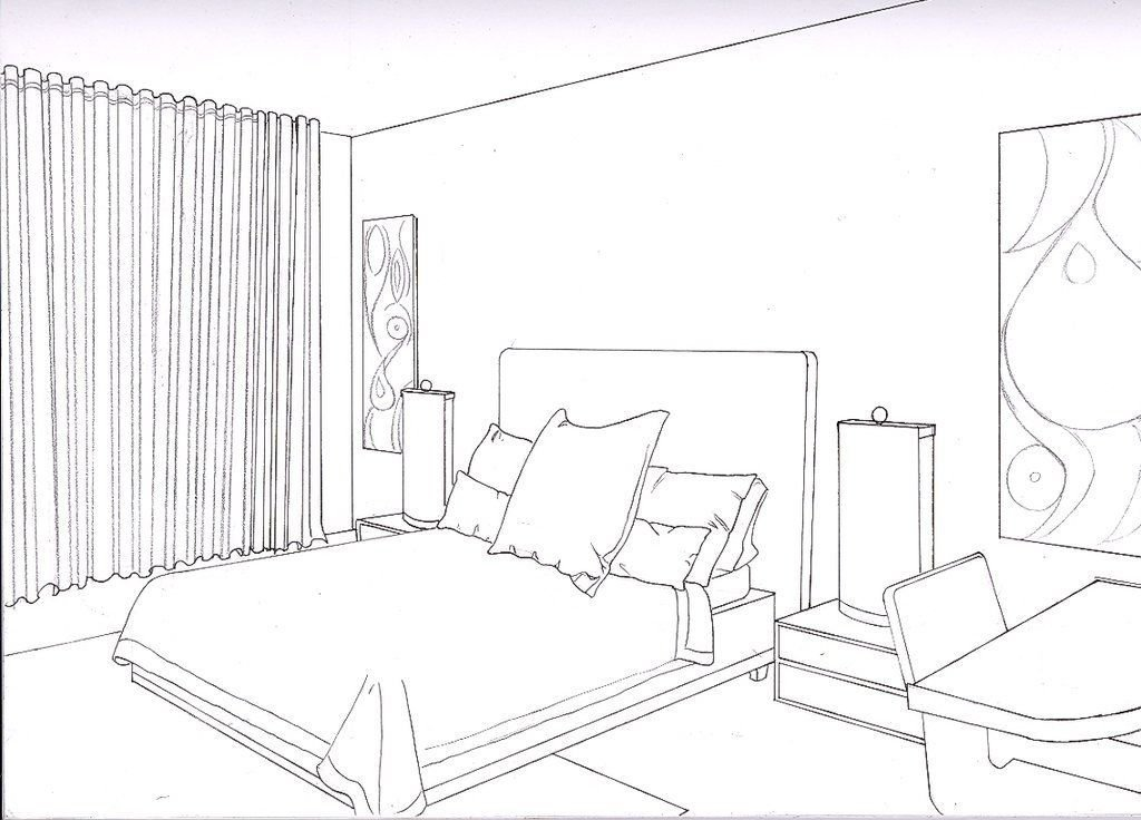 Best One Point Perspective Bedroom Smallroomsdesigns With Pictures