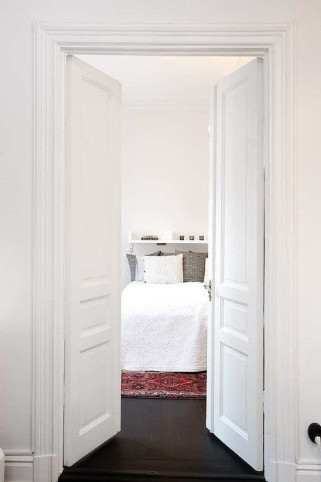 Best Love A Double Door Into The Bedroom It Feel So Glamorous With Pictures