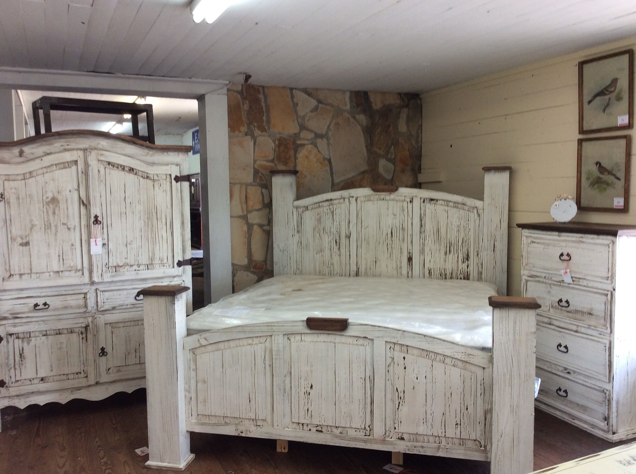 Best Texas Rustic Of Louisiana S Antique White Bedroom Group With Pictures