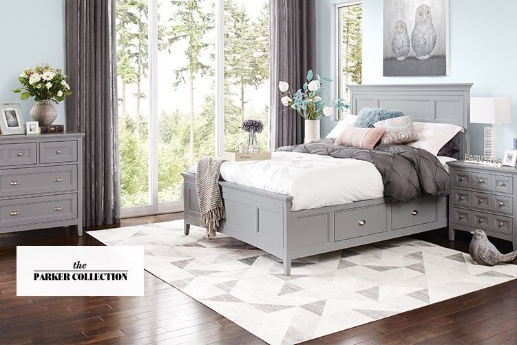 Best Parker Grey Bedroom Furniture Urban Barn Basement With Pictures