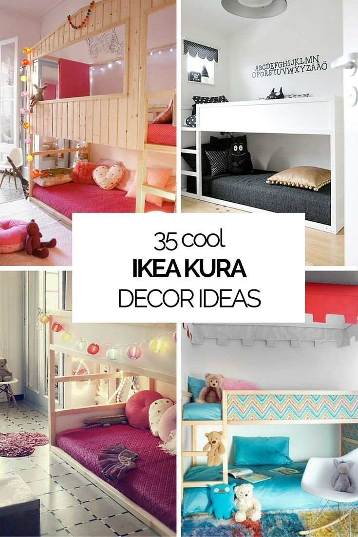 Best 35 Cool Ikea Kura Beds Ideas For Your Kids' Rooms With Pictures