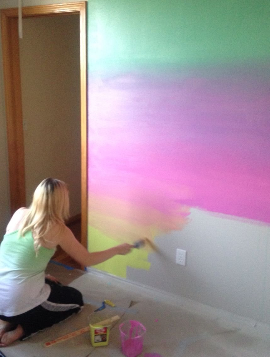 Best Jamie S Rainbow Ombré Wall … Unicorn Inspiration Unico… With Pictures