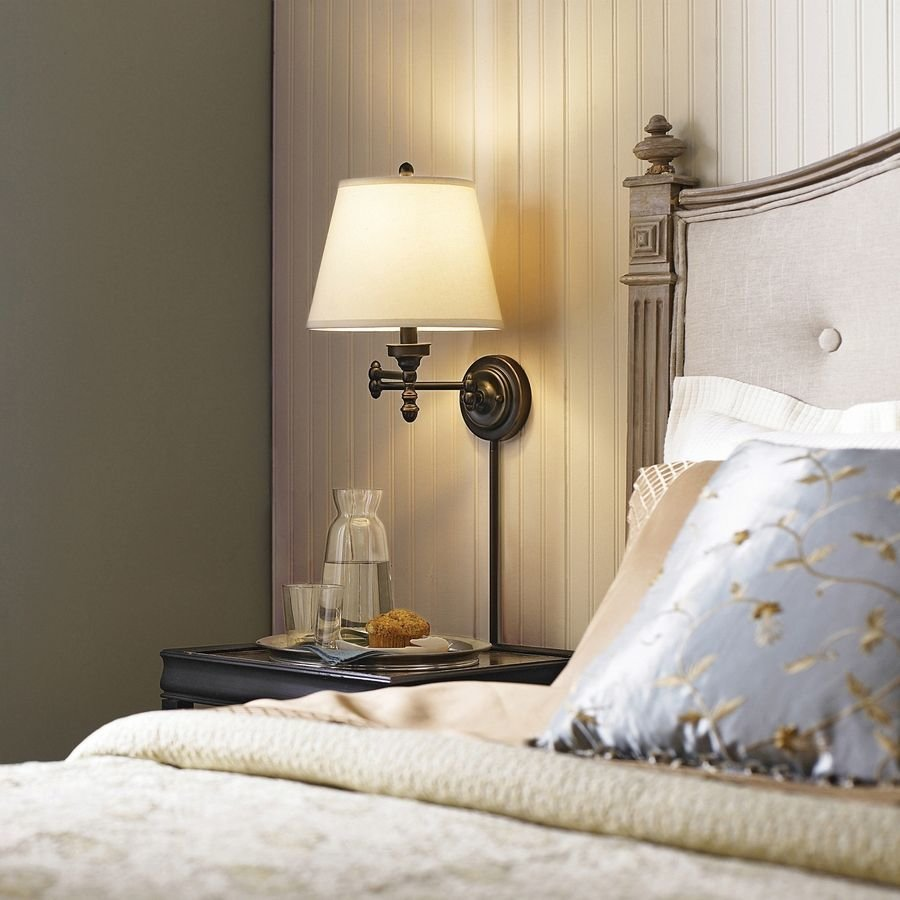 Best Conserve Valuable Bedside Table Space By Installing A Chic With Pictures